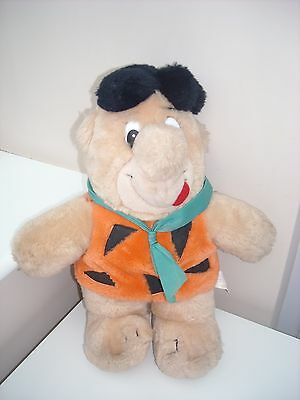 "Hanna Barbera Vintage Fred Flintstone 13"" Plush St Michael M&s 1988"