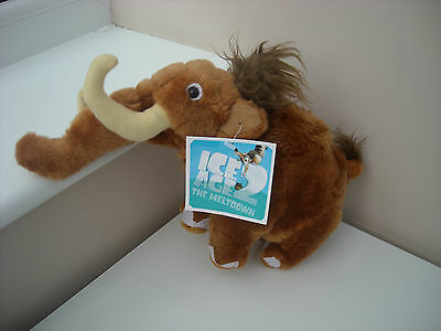"Ice Age 2 The Meltdown  Manny Wooly Mammoth Soft Toy Plush 10"" Tall Bnwt"