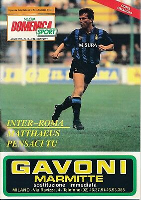 UEFA CUP FINAL 1991 Inter Milan v Roma - Domenica issue