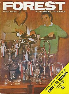 UEFA SUPER CUP 1980 Nottingham Forest v Barcelona