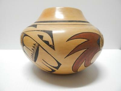 Vintage Fawn Navassie Hopi Pueblo Indian Pottery Hand Coiled Pot - Nice Form Nr