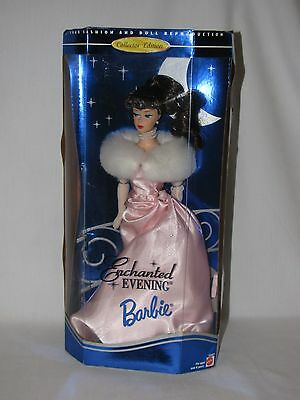 Mattel Reproduction Enchanted Evening Barbie Doll In Box Brown Hair