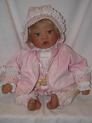 "Precious 19"" SIGNED Lee Middleton Baby Doll W/ Pacifier 1996"