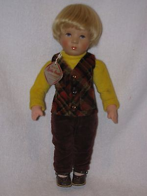 "Adorable 14"" Little Boy Doll By Kathe Kruse With Tag Stuffed Body"