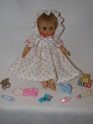 "8"" Vintage Vogue Ginnette Baby Doll With Cloth Body"