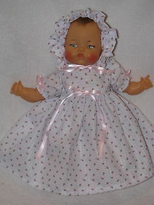 "14"" Vintage Ideal Thumbelina Baby Doll Dressed Cute"