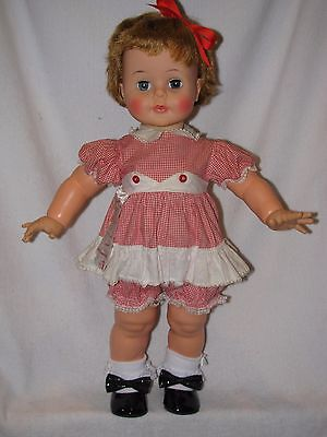 """Cute 22"""" Vintage Ideal Kissy Doll In Original Outfit"""