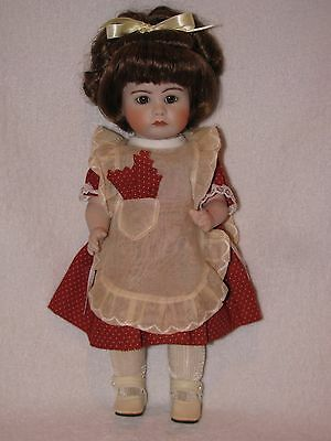 """Beautiful Artist Made 10"""" REPRODUCTION All Bisque Doll"""