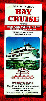 1973 Red and White Fleet San Francisco Bay Cruise Travel Brochure meac5