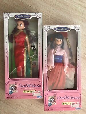 "Sakura Wars 11"" SEGA Chara Doll Selection #01 & 02 Ri Kouran FIGURES"