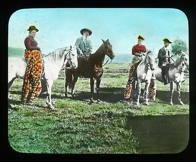Hawaiian P'Au Riders Glass Magic Lantern Slide