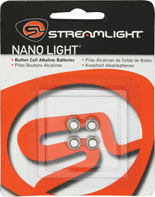Streamlight 61205 4 Long Lasting Replacement Batteries For Nano Lights