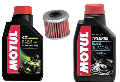 Honda Crf450R Service Kit Motul 5100 And Trans Oil With K&n Filter 2002-2018