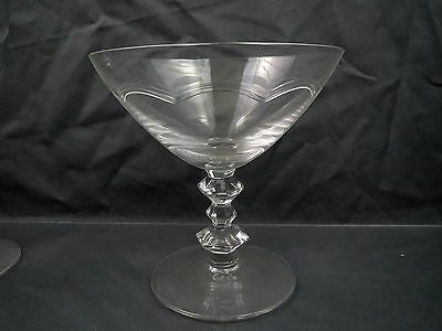 Tiffin Crystal SCALLOP CUT BAND Scalloped Sherbet CHAMPAGNE Stem # 17547