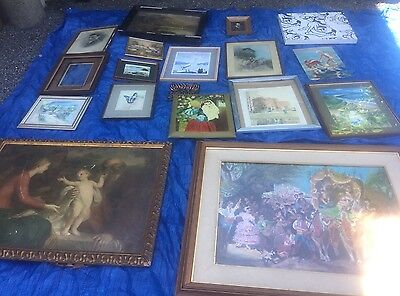 JOB LOT OF OLD/MODERN PAINTINGS - Local Collection Only. REDUCED TO SELL