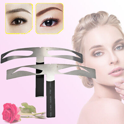 Permanent Makeup Eyebrow Design Tattoo Shaper Template Stencil Micro-blading