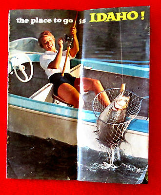 The Place to Go is Idaho 1960s vintage travel brochure rdbc