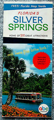 Florida's Silver Springs Six Great Attractions Advertising Brochure 1970 lsc