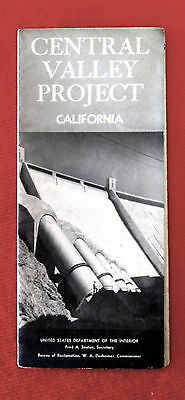 1957 Central Valley Project Travel Brochure California Dam Project rdbc