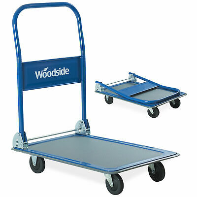 Woodside 150kg Folding Platform Flat Bed Trolley Truck Heavy Duty Sack Transport