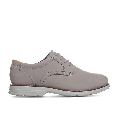 Mens Rockport Total Motion Fusion Plain Toe Shoes In Sand- Lace Fastening-