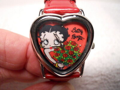 "2005 Collectible ""Betty Boop"" Quartz Wrist Watch in Tin Box"