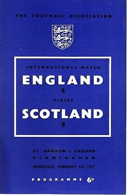 ENGLAND v Scotland (B International @ Birmingham) 1957