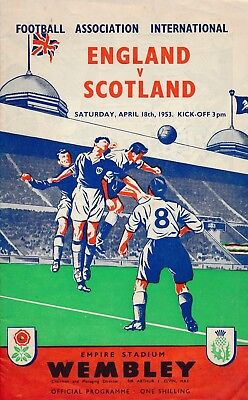 ENGLAND v Scotland (Home International @ Wembley) 1953
