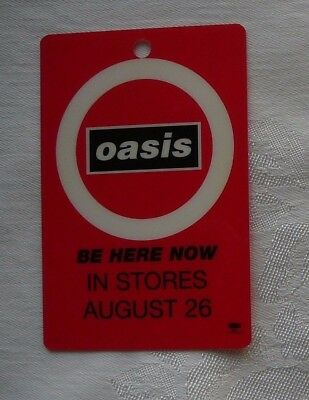 Oasis Employee Plastic Be Here Now Cd Advertising Pass