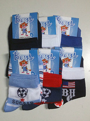 6 Pack Tights Baby Short Leon D'oro Patterned