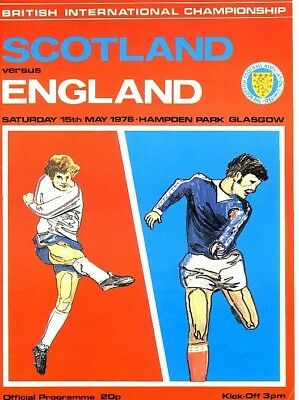 SCOTLAND v England (Home International) 1976