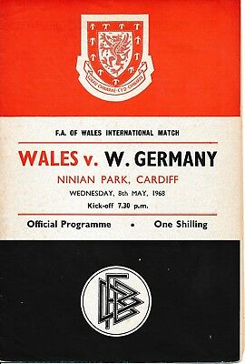 WALES v West Germany (Friendly International) 1968