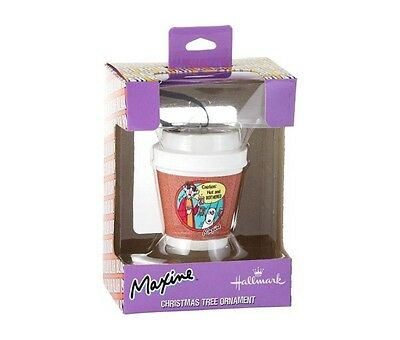 2015 Hallmark MAXINE Coffee Cup Ornament - CAUTION: HOT & BOTHERED