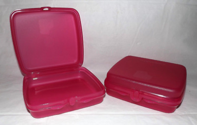 Two Tupperware Sandwich Keepers in Pink New 2017 Design Brand New