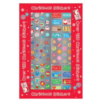 BIG BOX OF 450 CHRISTMAS STICKERS X 6, JUST 99p, SUPERB VALUE(8795