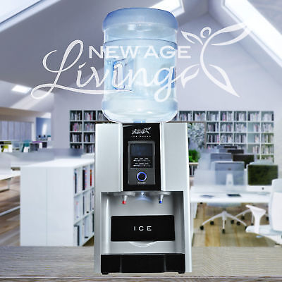New Age Living Countertop Ice Maker Water Dispenser Cold Hot Digital Controls N