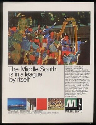 1969 New Orleans Mardi Gras parade art Middle South ad