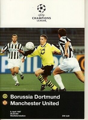 CHAMPIONS LEAGUE SEMI FINAL 1997: Dortmund v Man Utd