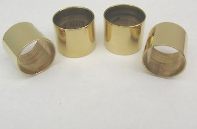 4  PLAIN BRASS COLLARS FOR WALKING STICKS - Two 25 mm & Two 30 mm size