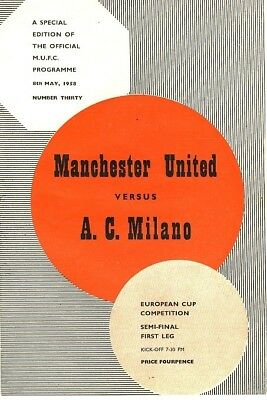 EUROPEAN CUP SEMI FINAL 1958: Man Utd v AC Milan