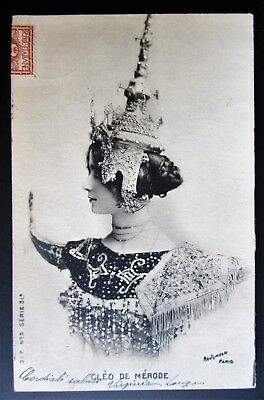 Postcard photo CLÉO DE MÉRODE ballerina dancer art déco hat Reutlinger 1903