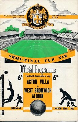 FA CUP SEMI FINAL 1957: A Villa v West Brom