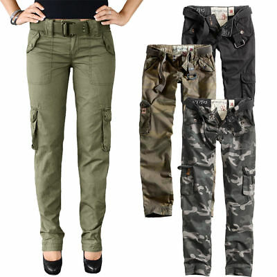 SURPLUS Pantaloni donna militare cargo vintage LADIES PREMIUM TROUSERS SLIMMY