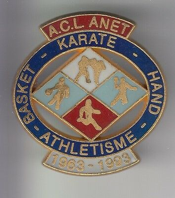 Rare Pins Pin's .. Sport Basket Ball Karate Hand Athletisme Club Big Anet 28 ~C4