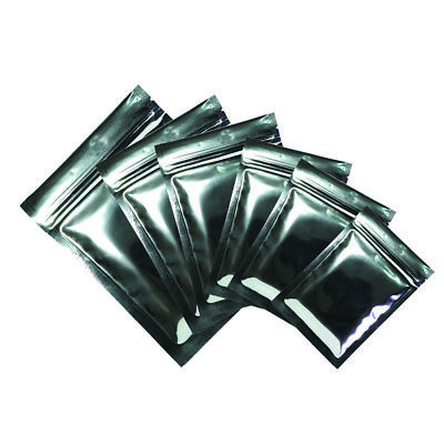 Flat Double-Sided Glossy Silver Mylar Zip Lock Resealable Bags Variety QTY Sizes