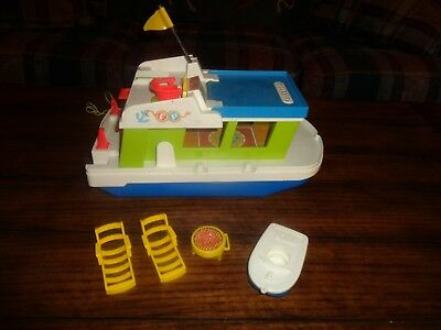 VIntage Fisher Price Little People Houseboat & Accessories
