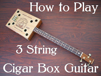 Cigar Box Guitar Lessons / How to play 3 string for kit neck pickup builders