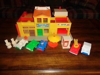 VIntage Fisher Price Little People Play Family Village & Accessories