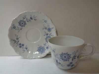 Christina BAVARIAN BLUE Seltmann Weiden Porcelain Cup and Saucer Set Germany