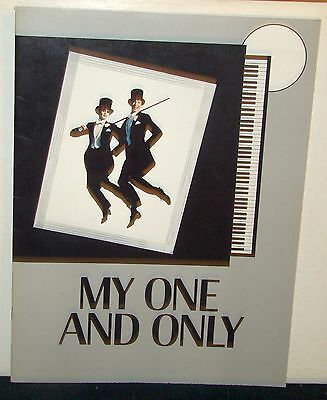 My One and Only Souvenir Program Tommy Tune Twiggy, Includes Cast Insert 1983